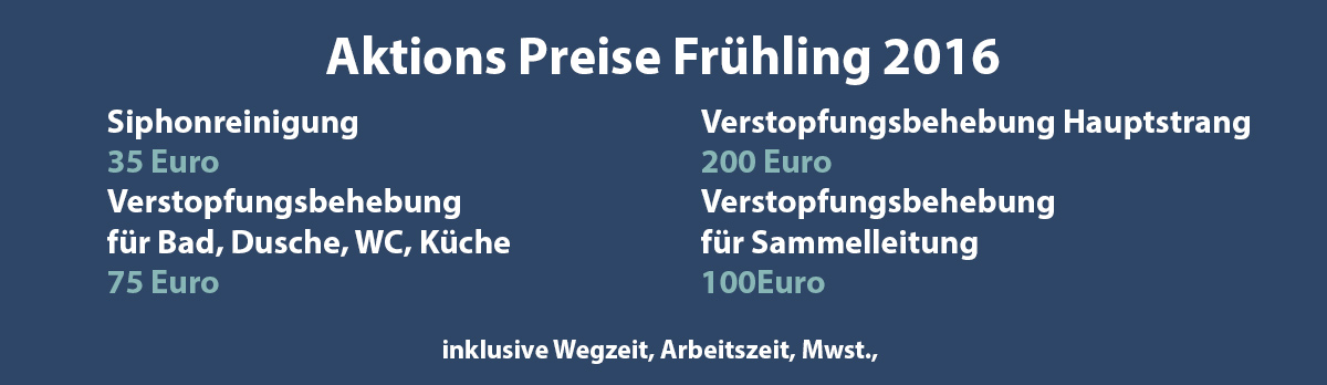 Verstopfung Notdienst Abflussverstopfung Wien